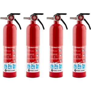 First Alert HOME1 Rechargeable Home Fire Extinguisher 4-Pack for $79