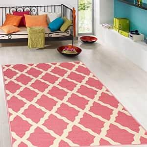 Ottomanson PNK7020-3X5 Trellis Rug, 3 Feet 3 Inch x 5 Feet, Pink Red for $23