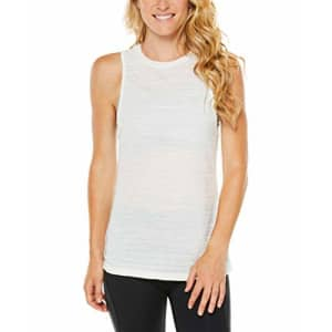 SHAPE activewear Women's Spin Tank TOP, Winter White, M for $22