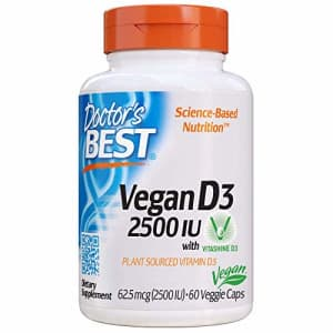 Doctor's Best Vitamin D3 2500IU with Vitashine D3, Non-GMO, Vegan, Gluten Free, Soy Free, Regulates for $15