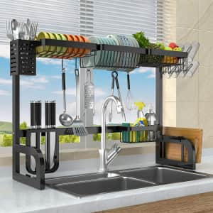 Geanli Over-The-Sink Dish Drying Rack for $45
