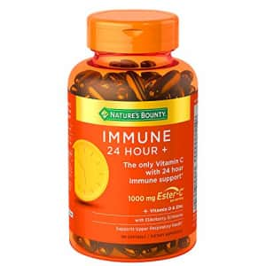 Nature's Bounty Immune 24 Hour +, 24 Hour Immune Support from Ester C, 100 Rapid Release Softgels, for $27