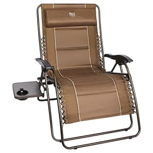 TIMBER RIDGE Oversized Zero Gravity Chair XL Padded Patio Lounger with Cup Holder Outdoor Reclining for $140