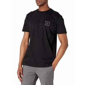 Billabong Men's Classic Short Sleeve Premium Logo Graphic Tee T-Shirt, Stacked Fill Black, X-Large for $26