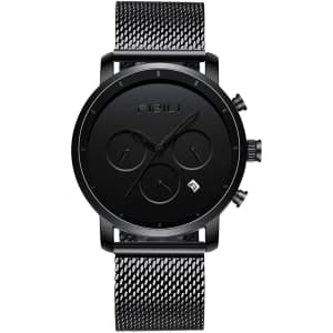 Fizili Men's 10 Series Chronograph Minimalist Watch for $40