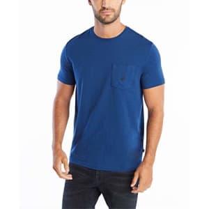 Nautica Men's Solid Crew Neck Short Sleeve Pocket T-Shirt, Estate Blue, Small for $18