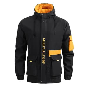 Men's Lightweight Thermal Hooded Jacket for $12