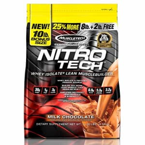 Whey Protein Powder + Creatine Monohydrate | MuscleTech Nitro-Tech Whey Isolate + Peptides | Whey for $84