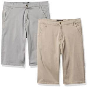 U.S. Polo Assn. Boys' Casual Shorts, Light Khaki, 16 for $23