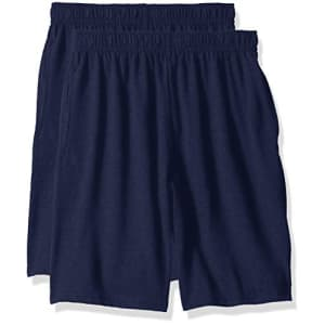 Hanes Big Boys' Jersey Short (Pack of 2), Navy, XL for $11