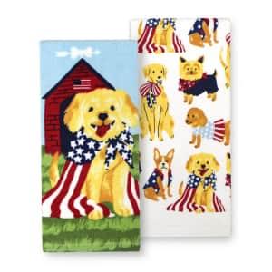Celebrate Americana Together Dog Kitchen Towel 2-Pack for $9