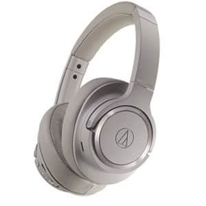 Audio-Technica ATH-SR50BT Bluetooth Wireless Over-Ear Headphones, Brown-gray for $199