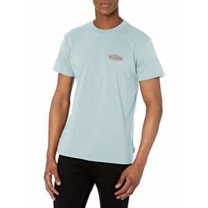 Billabong Men's Classic Short Sleeve Premium Logo Graphic Tee T-Shirt, Coast Coastal Blue, X-Large for $26