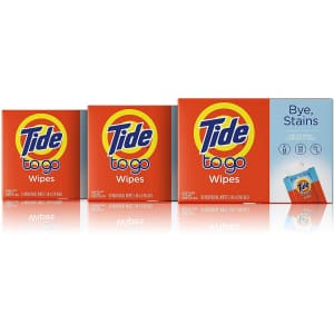 Tide To Go 30-Count Instant Stain Remover Wipes for $9