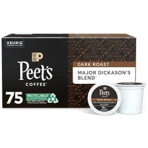 Peet's Coffee Major Dickason's Blend K-Cup Coffee Pod 75-Pack for $33