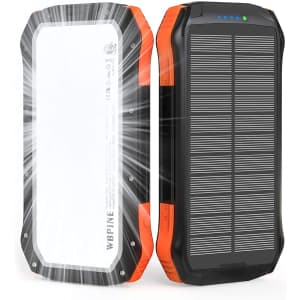 Wbpine 20,100mAh Portable Solar Power Bank for $18