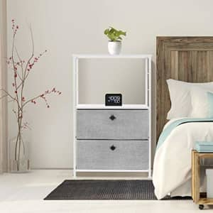 Sorbus Nightstand 2-Drawer Shelf Storage - Bedside Furniture & Accent End Table Chest for Home, for $69