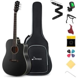 Donner Acoustic Guitar Starter Bundle for $160