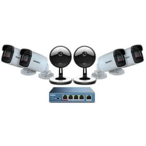 Uniden 4-Camera 1080p Indoor/Outdoor Security System w/ 5-Port PoE Switch for $89