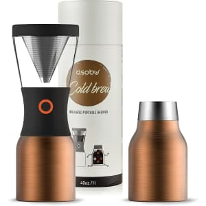 Asobu Portable Cold Brew Coffee Maker with 34-oz Vacuum Insulated Carafe for $42