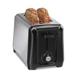 Hamilton Beach Stainless Steel 2 Slice Extra Wide Toaster with Shade Selector, Toast Boost, for $31