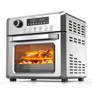 KBS Toaster Oven Air Fryer Oven, 7-in-1 Convection Oven with Air Fry, Bake, Broil, Toast, for $115