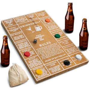 Hammer + Axe Game Wood Drinkopoly Board for $8