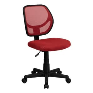 Flash Furniture Low Back Red Mesh Swivel Task Office Chair for $105