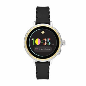 kate spade new york Women's Scallop 2 Stainless Steel Touchscreen smartwatch Watch with Silicone for $207
