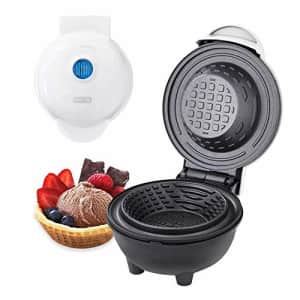 Dash DMWBM100GBWH04 Mini Waffle Maker for Breakfast, Burrito Bowls, Ice Cream and Other Sweet for $18