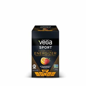 Vega Sport Sugar Free Energizer, Strawberry Lemonade - Vegan Certified, Keto-Friendly, Gluten Free, for $31