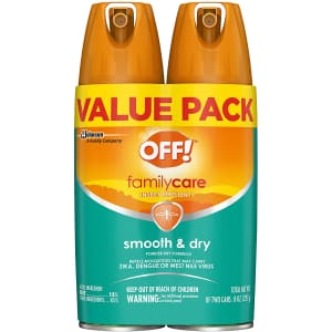 OFF! 4-oz. Family Care Insect & Mosquito Repellent 2-Pack for $10