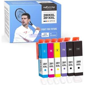 MyCartridge Suprint Canon 280XXL/281XXL Compatible Ink Cartridge 6-Pack for $22