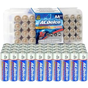 ACDelco AA Super Alkaline Batteries 40-Pack for $11