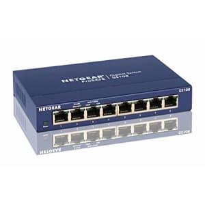 NETGEAR GS108NA ProSafe 8-Port Gigabit Ethernet Desktop Switch for $49