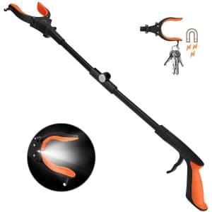 """Kekoy 31"""" Extendable Grabber Reacher Tool with Light for $12"""