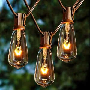 Afirst 20-Foot Outdoor String Lights for $13