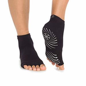 Gaiam Grippy Toeless Yoga Socks | 2 Pack | Non Slip Grip Accessories for Standard or Hot Yoga, for $13