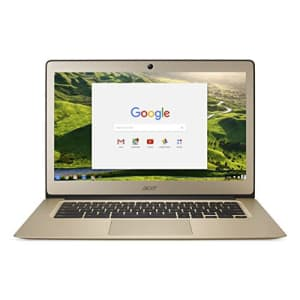 Acer Chromebook 14, Aluminum, 14-inch Full HD, Intel Celeron N3160, 4GB LPDDR3, 32GB, Chrome, Gold, for $354