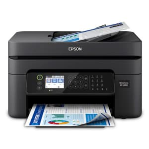 Epson WorkForce WF-2850 Wireless All-in-One Color Inkjet Printer for $50