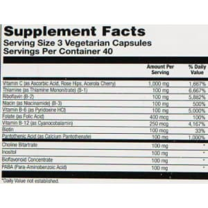 Solaray Mega B Stress Two Stage Timed Release Supplement, 120 Count for $19