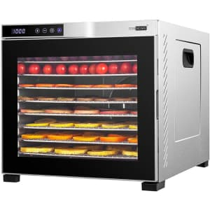Vivohome 1,000W 10-Tray Stainless Steel Electric Food Dehydrator for $224