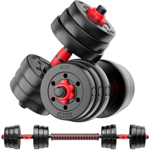 Partrisee 2-in-1 Adjustable Weight Set for $55
