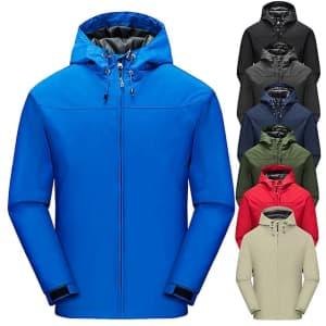 Men's Hooded Rain Jacket for $11