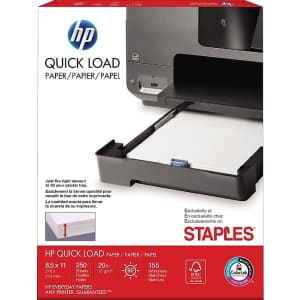 HP Quick Load Printer Paper 250-Sheet Ream for $2