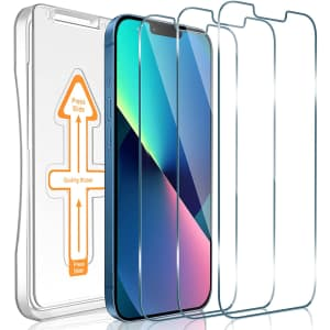 Janmitta Screen Protector 3-Pack for iPhone 13 or 13 Pro for $3