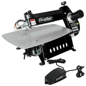 """Excalibur 21"""" Scroll Saw w/ Foot Switch for $489"""