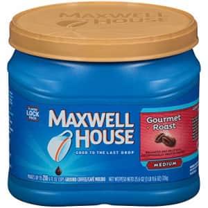 Maxwell House Gourmet Roast Medium Roast Ground Coffee (25.6 oz Canister) for $12