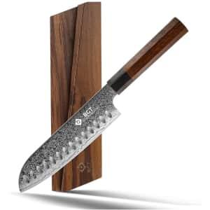 "BGT 7"" Japanese Damascus Steel Santoku Knife for $42"