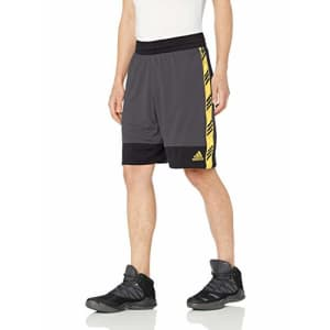adidas Men's Pro Madness Shorts, Grey, XX-Large for $33